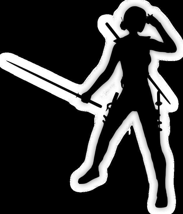 Zora Dian fejvadász lány, tele fegyverekkel